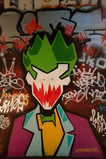Street Art/Graffiti Text Indoors  Close-up No People Multi Colored Freshness Day