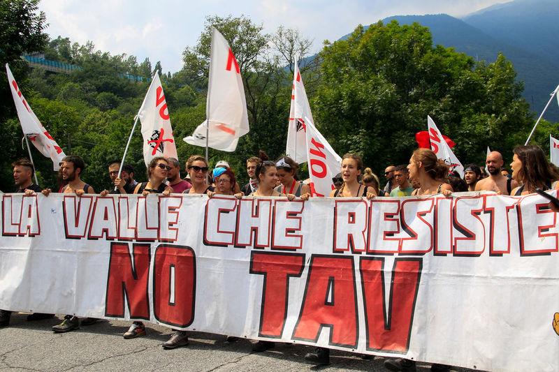 No Tav Protest