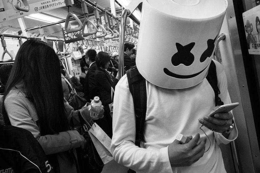 Halloween-Tokyo, Japan, 2017 Blackandwhite Streetphotography The Street Photographer - 2018 EyeEm Awards
