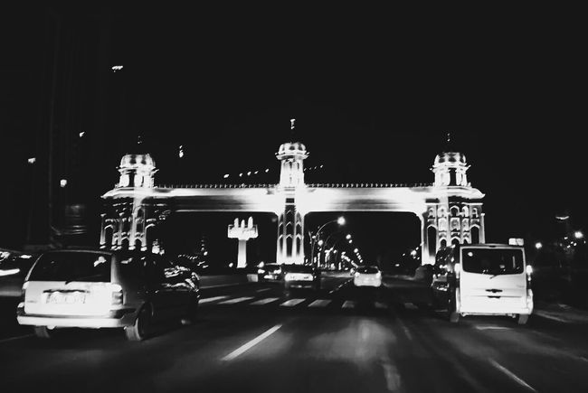 The Drive Night Architecture City Street Photography Outdoors Urban Exploration EyeEm Best Shots EyeEm Masterclass Sony Xperia XperiaM5 Sony Mobile Our Best Pics From My Point Of View Black And White Mobile Photography Light And Shadow Getting Inspired Black & White Cars Ride Street Road Freeway Ankara