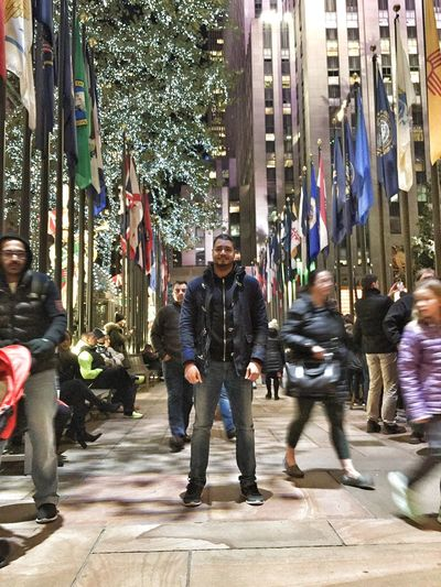 New York City Thats Me  ThatsMe Today's Hot Look Christmas Decorations Christmasevent Nightphotography NYC NYC Photography Taking Photo Streetphotography Street Photography Christmas2015 Rockerfellercenter Rockerfeller Portrait Self Portrait