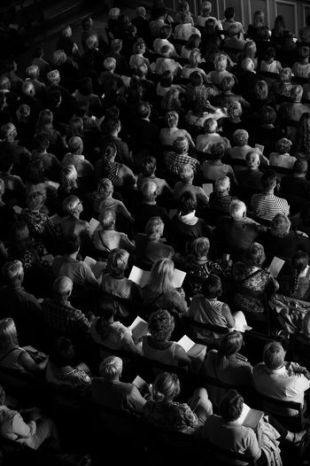 Crowd. Audience. Call it what you will. Concert Photography People SWEDEN_bw Blackandwhite