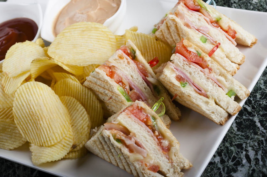 Close-up Club Sandwich Food Food And Drink Freshness Healthy Eating High Angle View Indoors  Indulgence Meat No People Plate Ready-to-eat Sandwich Seafood Serving Size SLICE Snack Still Life Table Tray Vegetable Wellbeing