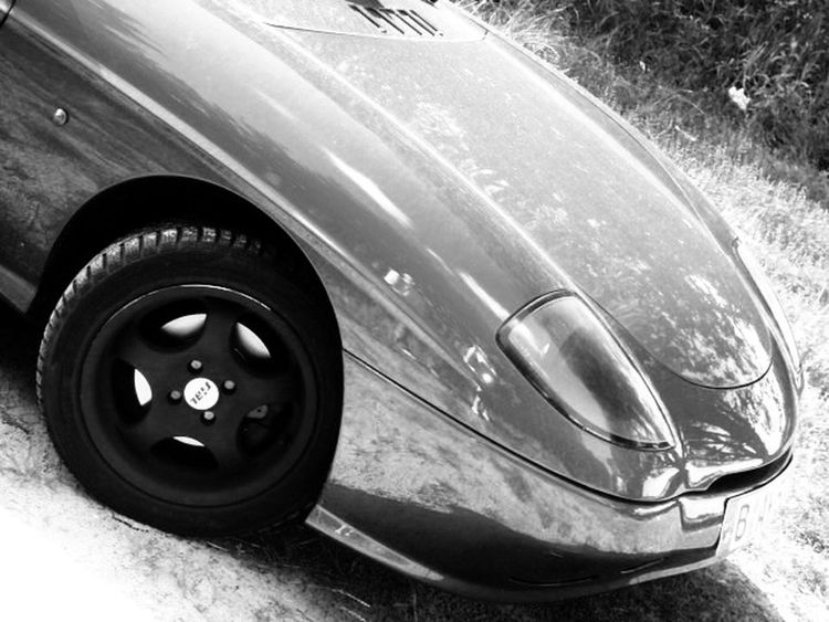 Fiat Barchetta Car Cabrio Black And White