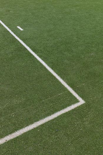 Yard line at soccer field