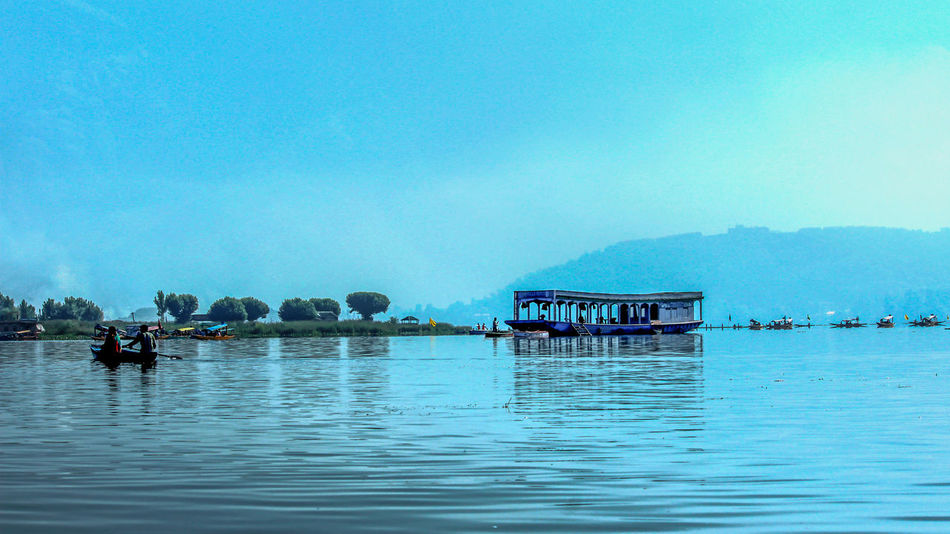 Water Waterfront Blue Lake Scenics Tranquil Scene Tranquility Mountain Rippled Nature Beauty In Nature Outdoors Calm Sky Day Riverbank Mountain Range Holiday India Travelling Office Art Art For Sale Wallart Decoration kashmir Kashmir