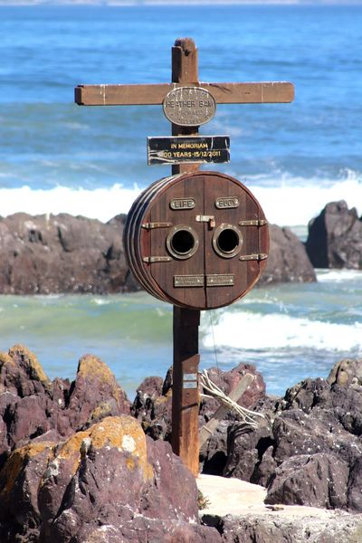 Blouberg Beach BloubergStrand Cape Town In Memoriam South Africa Beauty In Nature Close-up Coin-operated Binoculars Day Heather Bam Horizon Over Water Life Buoy Nature No People Outdoors Rock - Object Scenics Sea Sky Tranquil Scene Tranquility Water