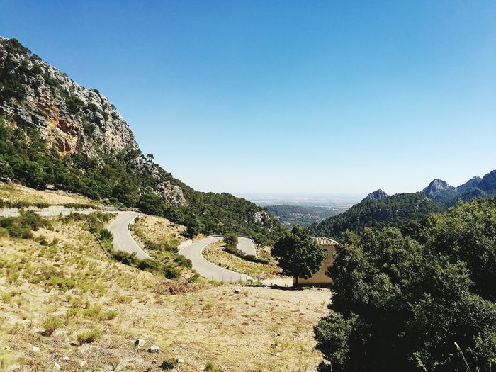 Scenic View Of Mountain Road