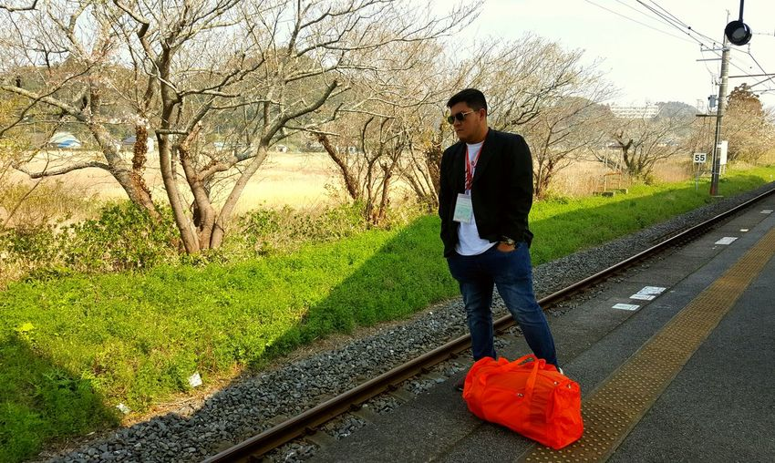 travel Train Station Train Onjuko Japan Travel Full Length Standing Water Men Sky Casual Clothing