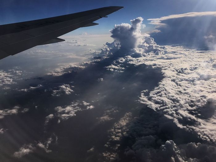 Airplane Sky Cloud - Sky Nature Journey Aerial View Beauty In Nature Airplane Wing Majestic Travel Aircraft Wing Day Flying Beauty In Nature Sky Only Nature