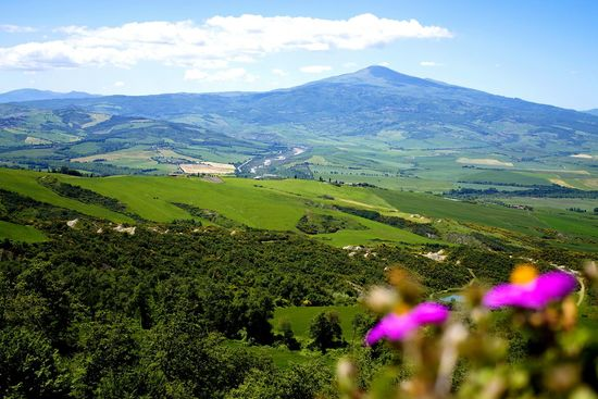 Landscape Nature Green Color Mountain Beauty In Nature Scenics Outdoors Day Sky Valdorcia Love Tuscany Pienza Italy Flowers Framedbynature