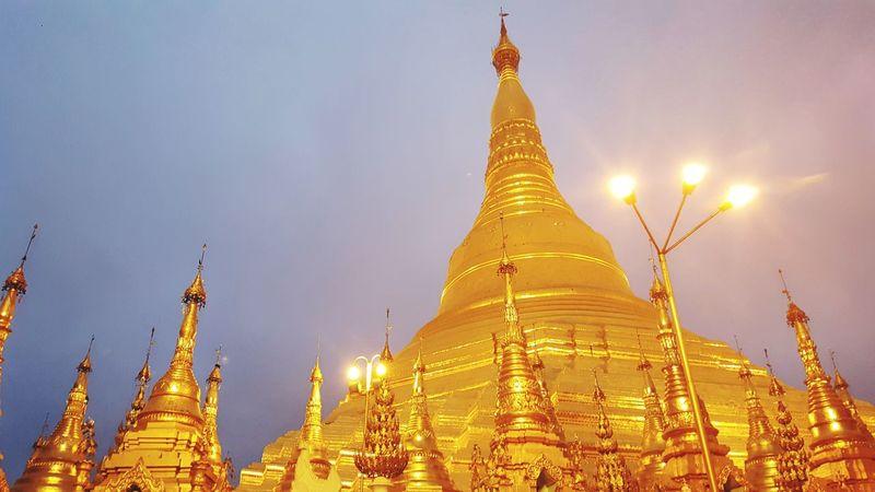 5am at Pagoda. Myanmar Shwedagon Pagoda Shwedagon Yangon Morning Pagoda Religion Landscape Gold Gold Colored Architecture Travel Travel Destinations No People Spirituality EyeEmNewHere