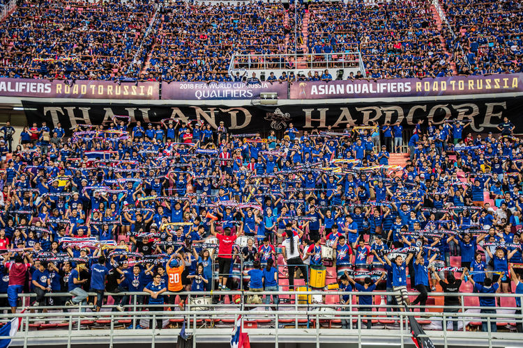 World Cup Qualify : Thailand vs Japan Asian Football Cheers Crowded Football Football Fans Football Match Football Stadium Japan Japanese Football National Flag National Stadium National Stadium In Bangkok Soccer Sport Sports Photography Thai Fooball Thailand World Cup