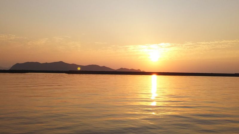 Saturday Morning Rising Sun Seascape Reflection Beauty In Nature Waterfront Tranquil Scene 五島列島