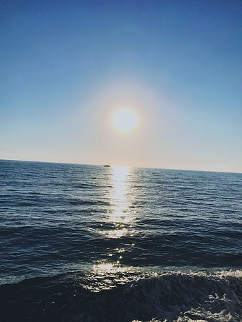 Sea Beauty In Nature Sun Clear Sky Sunlight Day Outdoors No People Blue