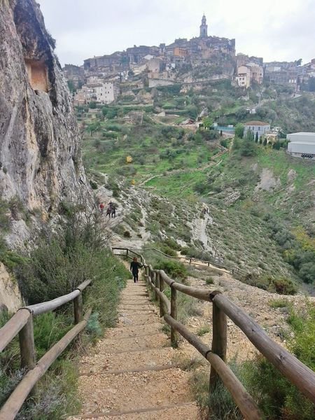Half way Travel Destinations Travel Footpath Sky Landscape Tree Vacations Cave Entrance Caves Cave Trekking Mountaineering Climbing Wood Stairs Stairs In Nature Stairs To Heaven Stairway Stairs Stairways Climbing A Mountain Day