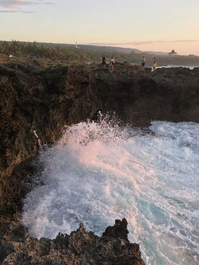 Be. Ready. Beauty In Nature Beach Wave Rock Formation Vacations Bolinao, Pangasinan TeamD Right Timing Splash