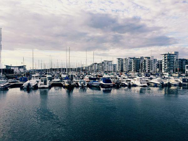 EyeEm Selects Water Sky Harbor Transportation Cloud - Sky Sea Marina Waterfront Travel Destinations Summer Outdoors