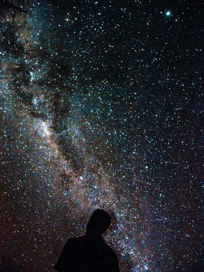 Lost//Found Milky Way Long Exposure Canon Night Real People One Person Lifestyles Illuminated Nature Human Body Part Nightlife Star - Space Sky Light Light - Natural Phenomenon My Best Photo