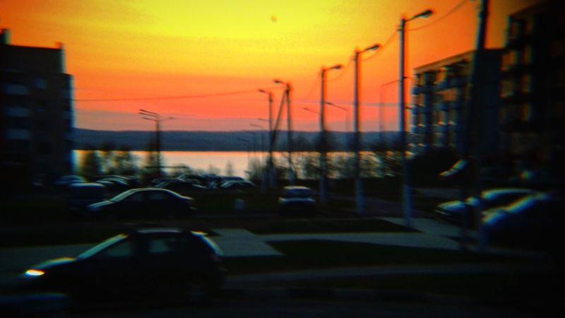 City Sunset Silhouette Car Sky
