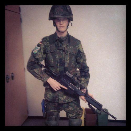 Grundausbildung(military education.) Military German Germansoldier Marines education gun G36 best smooth nice german climber flecktarn soldier time feelings intagram follow me