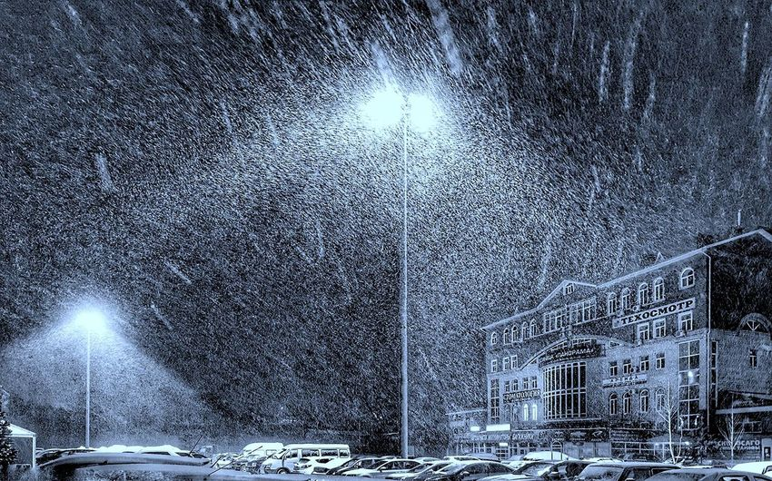 take a fullsize look, please Snow Architecture Blackandwhite Building Exterior Built Structure Cold Day Light Light And Shadow Lowcolor Night Nightphotography No People Outdoors Russia Sky Snow Snowblizzard Tree