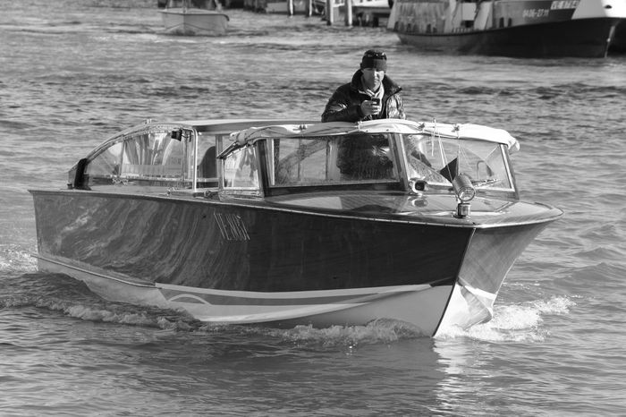 Boat Canal View Classic Classic Boat Classic Boats Distracted Distracted Driver.  Distractedfromwork Distraction Distractions Lifestyles Mode Of Transport Nautical Vessel Sea Travel Venezia Venezia Italia Venice Venice View Water Water Reflections Water Taxi Watertaxi