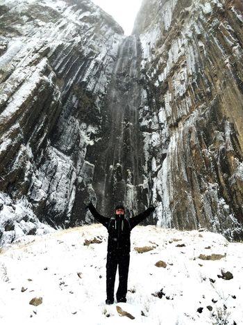 Кабардино-Балкария, Чегем, водопад Абай-Су Кабардино-Балкария чегем водопад зима снегупоколено еледошли Поход треккинг активныйотдых Activbox