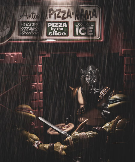 pizza fight part 2 EyeEm Selects Toyphotography Toy Photography TMNT🐢 Teenage Mutant Ninja Turtles  Toys Cinematic Cinematic Photography CinematicToyPhotography Business Finance And Industry Store Building