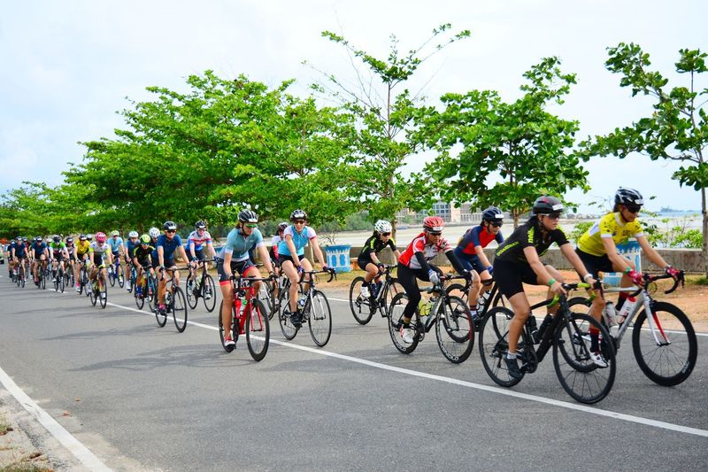 Tour De Bintan Tour De Bintan 2018 Uci Gran Fondo Bintan  Roadbike Bicycle Racing Bicycle Sports Race Cycling Competition Road Tree Large Group Of People Athlete Sports Clothing Outdoors Day Competitive Sport Healthy Lifestyle People