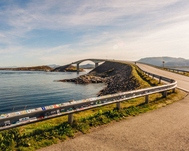 Bridge to the fjords and mountains