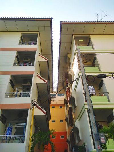 apartment Colour Your Horizn Architecture Steps And Staircases Built Structure Staircase Building Exterior Low Angle View Steps No People Outdoors Modern Day Spiral Staircase Sky EyeEmNewHere