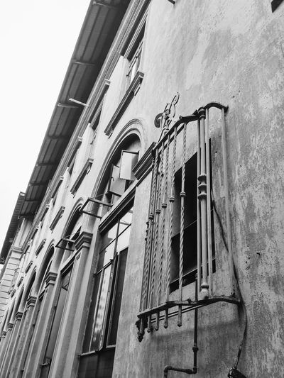 History. Black And White Windows Historical Building