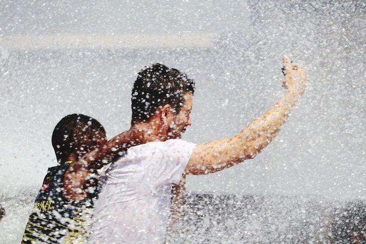 Togetherness Two People Men Water Males  Females Bonding Fun Emotion Child Motion Exploring Fun