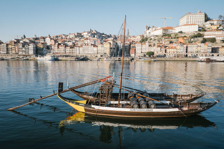 Porto 2017 Douro  Porto Portugal Architecture Building Exterior Built Structure City Day Mode Of Transport Moored Nature Nautical Vessel No People Outdoors Portwine Sky Transportation Water Waterfront
