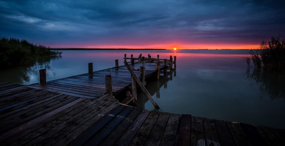 Neusiedler see lake Travel Travel Destinations EyeEmNewHere Austria Beautiful Place Blue Color Pink Color Landscape Sunrise_sunsets_aroundworld Sunrise Lake Sky Water Beauty In Nature Tranquility Scenics - Nature Cloud - Sky Pier Horizon Over Water Horizon Jetty Nature Outdoors Idyllic Tranquil Scene