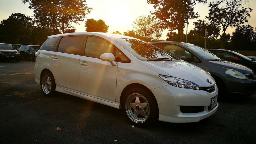 My new car Toyota Wish WhiteCollection