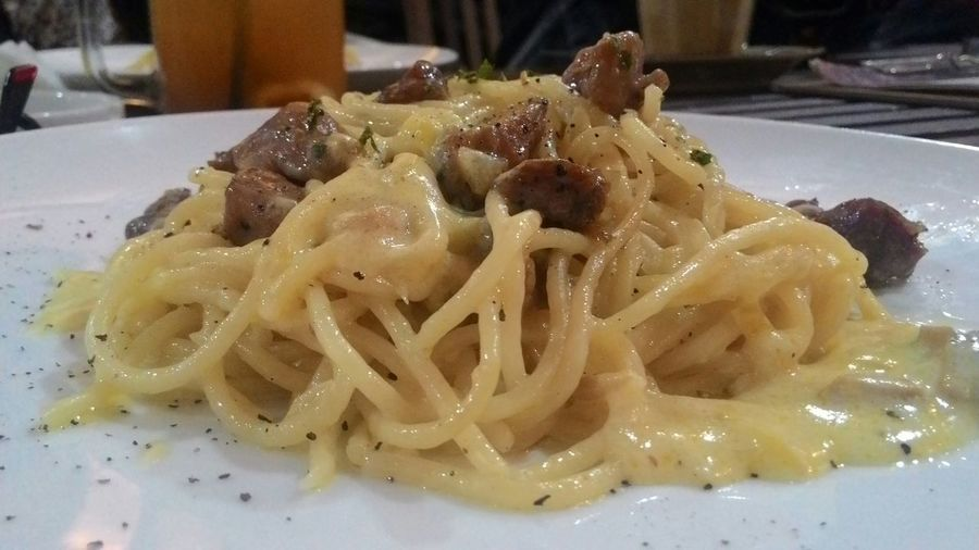 Dinner pasta Beef Creamy Spagheti... Dinner Enjoying Life CreamyCheese
