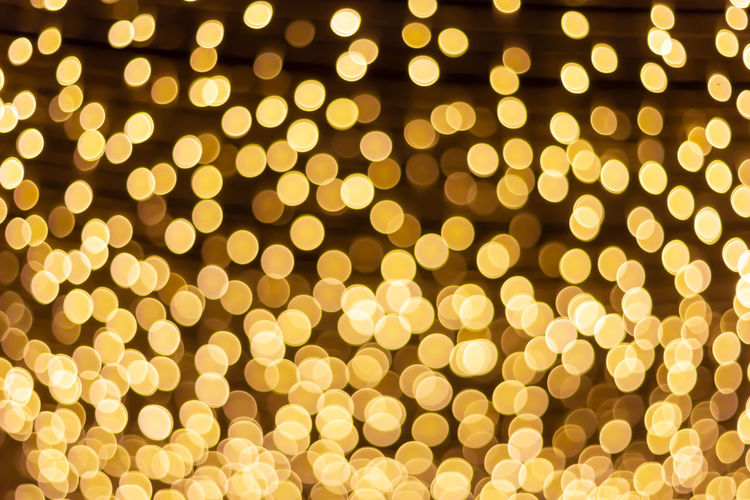Abstract Backgrounds Celebration Christmas Christmas Decoration Circle Decoration Defocused Event Full Frame Geometric Shape Glowing Holiday Illuminated Light Light - Natural Phenomenon Lighting Equipment Luxury Night No People Pattern Shape Yellow