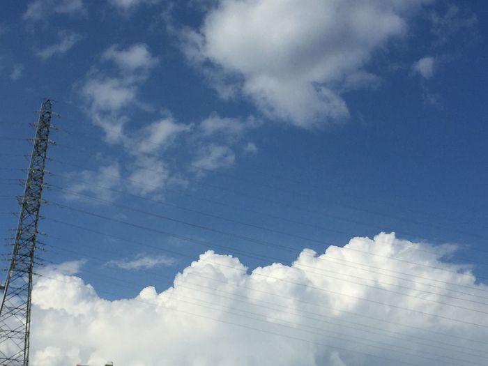 もくもくとした雲が広がって〜 青空 雲の形 信州 My Sky 空 今日の空 夏空 夏の雲