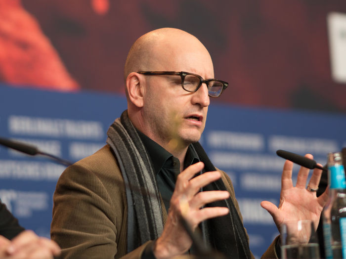 Berlin, Germany - February 21, 2018: American film producer, director, screenwriter, cinematographer, and editor Steven Soderbergh attends the 'Unsane' press conference during the 68th Berlinale 2018 Fame Famous Film Festival Golden Bear Photocall Premiere Arts Culture And Entertainment Berlinale Berlinale 2018 Berlinale2018 Communication Entertainment Film Industry Film Production Focus On Foreground Headshot Mass Media One Person Photo Call Popular Posing Press Conference Red Carpet Red Carpet Event Steven Soderbergh