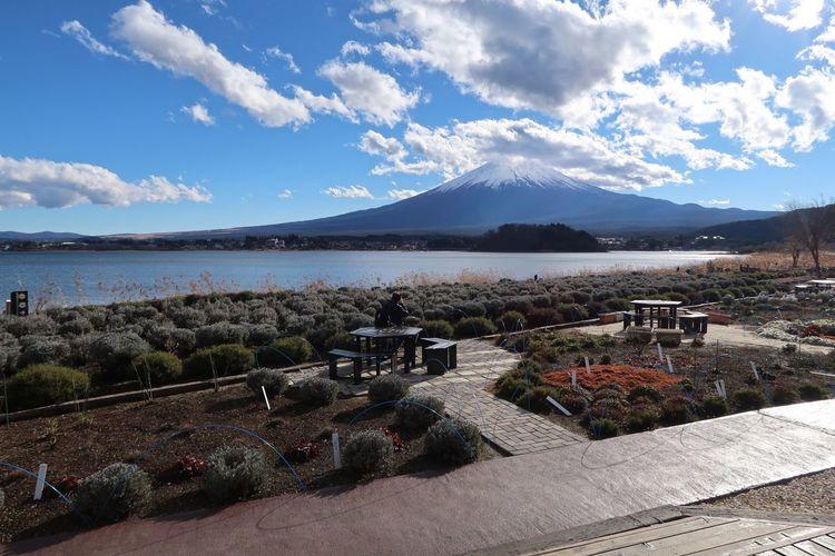 Fujikawaguchiko Sky Mountain Fuji Japan Lake Japanese