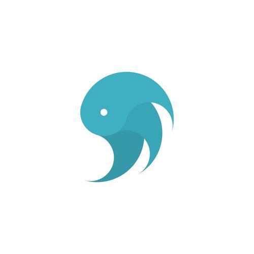 Logo Logo Design Blue Cold Color Pallete HEAD Kickstarter Minimalistic