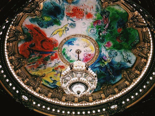Architecture Architecture And Art Art Decoration Multi Colored Opéra Paris Roof Ópera De Paris