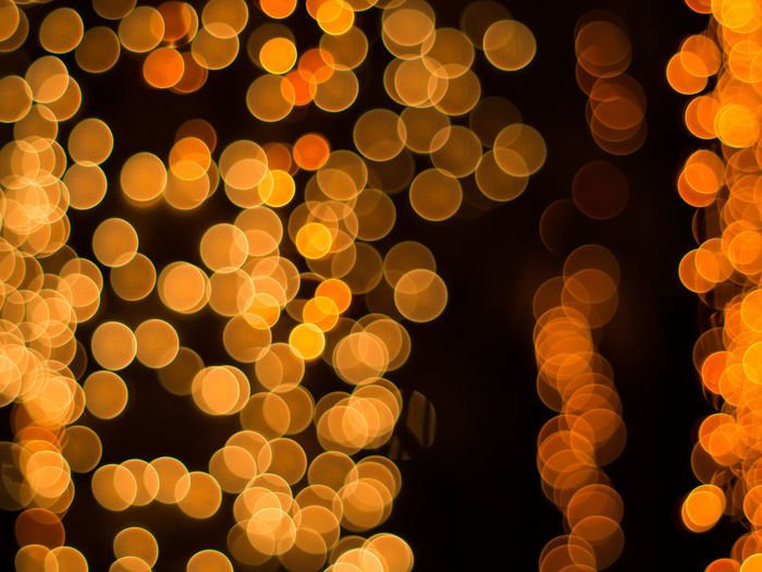 Abstract Background Beautiful Bokeh Bulb Christmas City Decor Effect Festival Focus Light Luxury New Year Night Soft Style Town