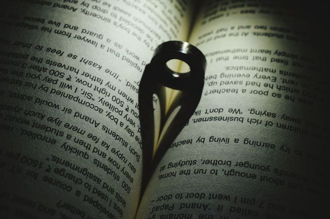 Shadow Photography #Heart #ring #Shadow Newspaper Paper Book Page Science