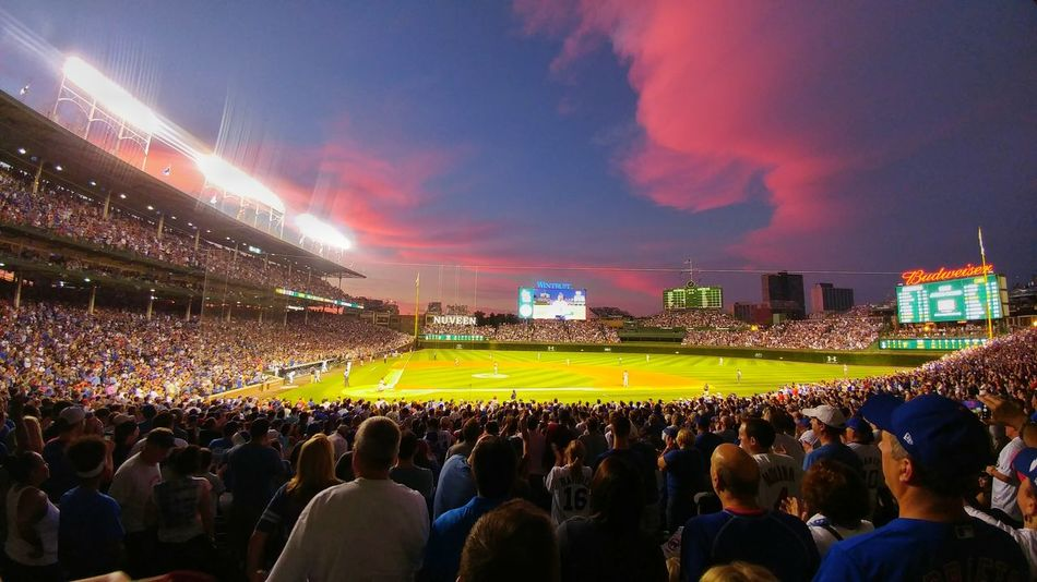 Colour Of Life Color Of Life Wrigleyfield Stadium Baseball Stadium Baseball Game Summer Memories 🌄 Summertime Chicago City Chicago Cubs Chicago ♥ Chicago Chicago Illinois ChiTown Windycity