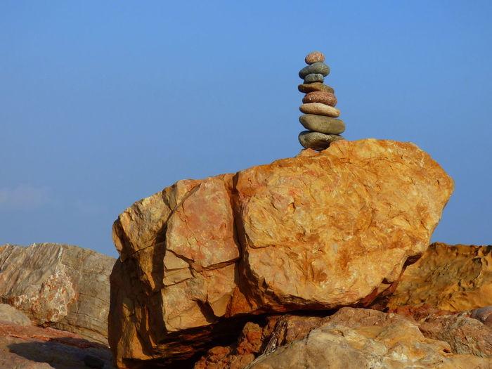 Beauty In Nature Boulder - Rock Day Ephemeral Geology Meditation Nature No People Outdoors Philosophy Rock - Object Rock Hoodoo Sky Stone Balance Zen
