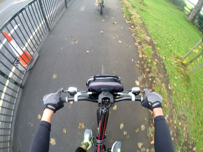 Let's ride 🚴🏻♂️ Cycling Transportation Land Vehicle Bicycle Mode Of Transport Road Street Handlebar High Angle View Outdoors
