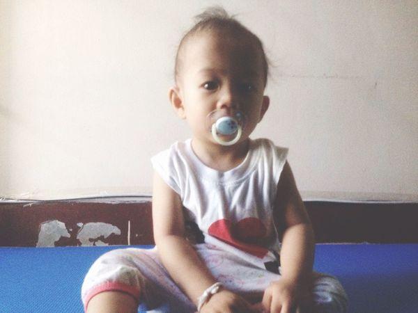 Baby Portrait Looking At Camera Indoors  Sitting Boy Children Innocence Shadows & Lights Pacifier Room Kids Cute♡ Little Newborn First Eyeem Photo Asian